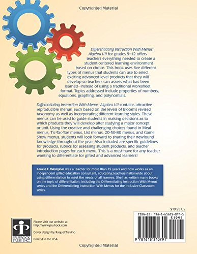 Workbook differentiated instruction worksheets : Amazon.com: Differentiating Instruction with Menus: Algebra I/II ...