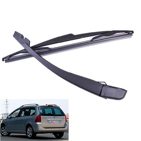 Escobillas de coche + brazo de limpiaparabrisas, color negro