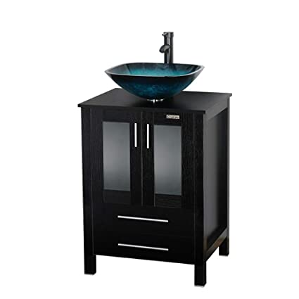 Modern 24 Bathroom Vanity And Sink Combo Eclife Stand Pedestal