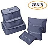 Ultimate Travel Packing Cubes Set – Versatile Suitcase Organizers With Durable Oxford Cloth Material & Heavy-Duty Zippers For Clothes, Shoes, Cosmetics & More, Practical Luggage Organizers - Set Of 6