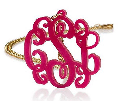 Acrylic 1 6 Monogram Necklace Custom product image