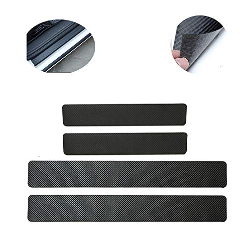 4Pcs Carbon Fiber Leather Car Door Sill Scuff Plate Guard Sills Protector Trim Autoparts Accessories for Acura CL ILX Integra MDX MDX Sport Hybrid RDX RL RLX RLX Sport Hybrid RSX TL TLX TSX ZDX