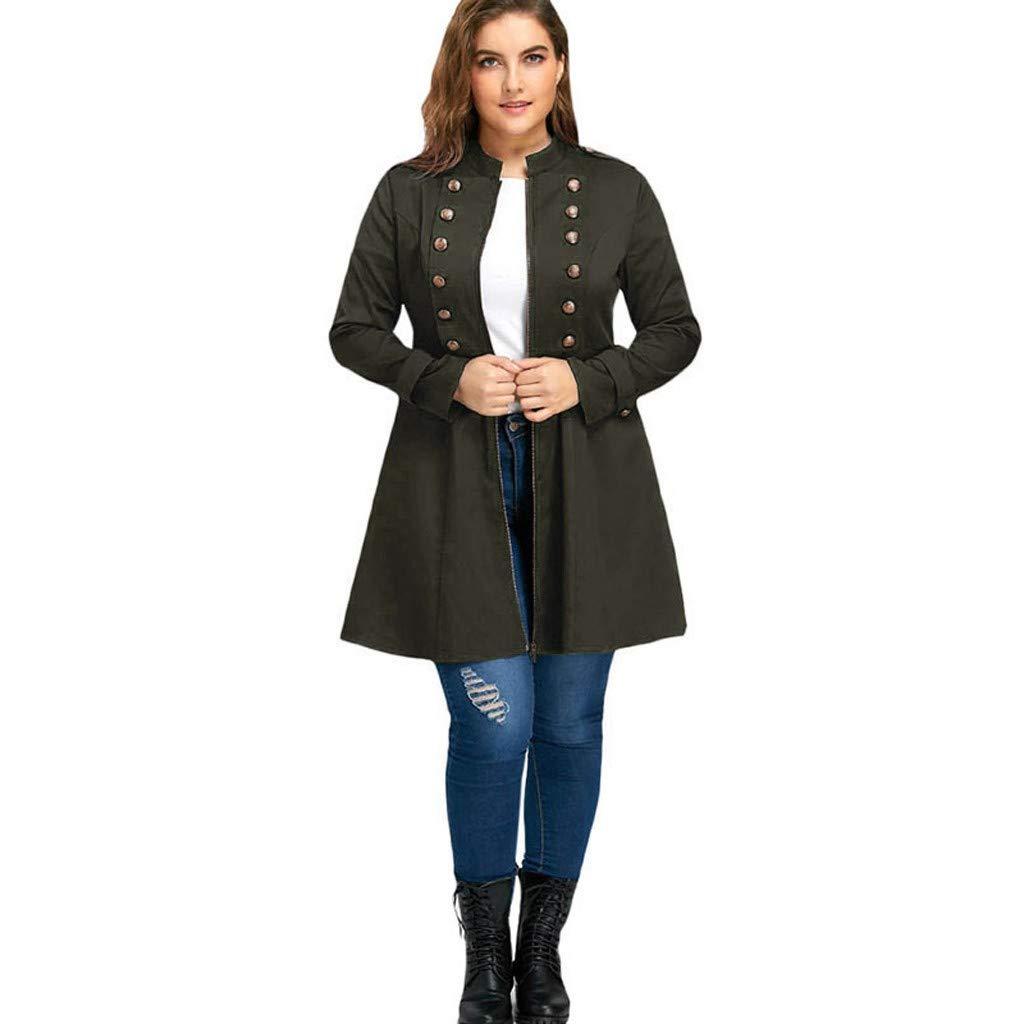 LISTHA Dress Coat Plus Size Women Lace Up Hooded Jacket Vintage Steampunk Blazer