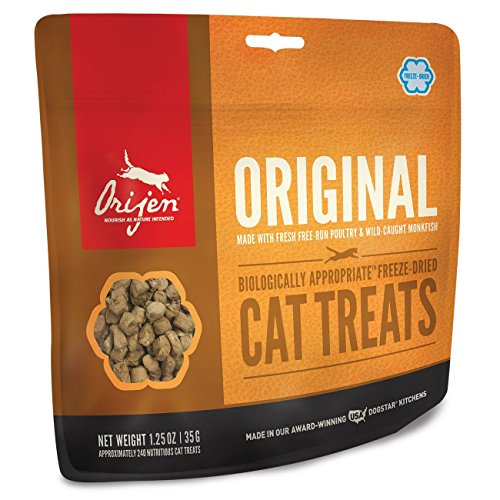 Orijen Freeze-Dried Cat Treats, Orange/Original, 1.25 oz ()