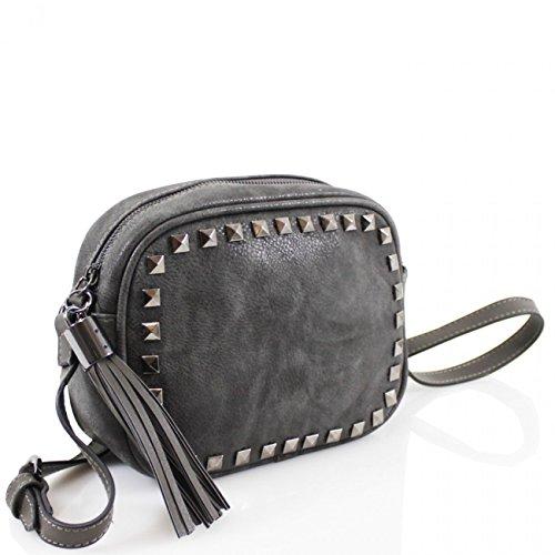 Size BODY For LeahWard Small Women Studded Women's BAG Bag Fancy Cross STUDDED Body KHAKI CROSS Handbag U41qw45