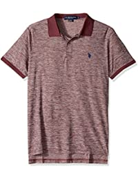 Men's Classic Fit Solid Short Sleeve Poly Pique Polo Shirt
