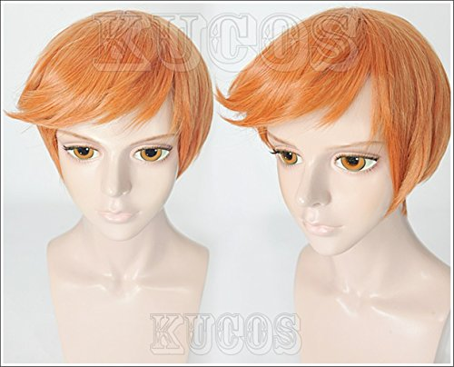 [LanTing Cosplay Wig Touken Ranbu The Sword Dance Iwatooshi Orange Cosplay Party Fashion Anime Human Costume Full wigs Synthetic Hair Heat Resistant] (Female Flasher Adult Costumes)