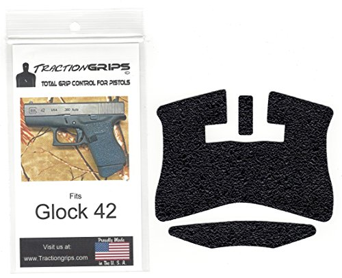 Tractiongrips Rubber Grip Tape Overlay for Glock 42 Pistols