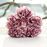 Best Garland Fake Eyelashes - Vovomay Artificial Silk Fake Flowers Peony Floral, Wedding Review
