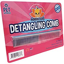 Premium Detangling Comb for Dogs & Cats | Detangler Grooming Brush for Pets | Remove Knots , Tangles, Matted Fur and Knotted Hair