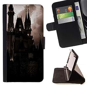 Momo Phone Case / Flip Funda de Cuero Case Cover - Spooky Noche Drácula Vampiro - HTC One M7