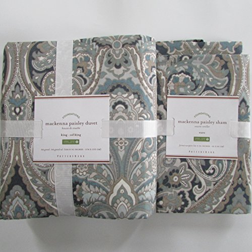 Pottery Barn MACKENNA PAISLEY Duvet King/Cali King & Two