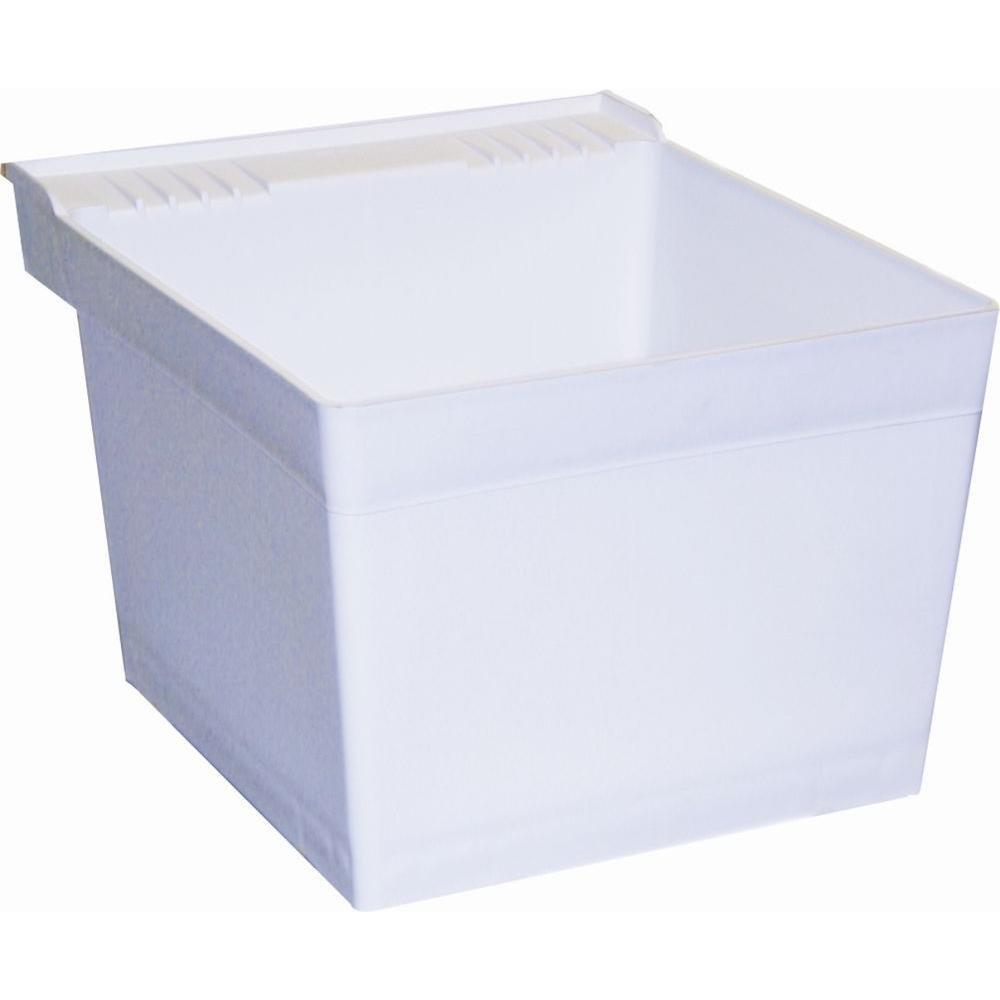 Crane Plumbing L1100 L1 Laundry Tub (Single Wallhung), White   Utility Sinks    Amazon.com