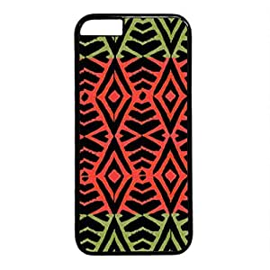 iPhone 5C Case, iCustomonline Tribal Print Pink Designs Protective Case Cover for iPhone 5C PC Black