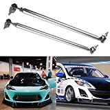 CoCocina Adjustable Front Rear Frame Bumper Protector Splitter Rod Support 11 inch-13 inch Silver
