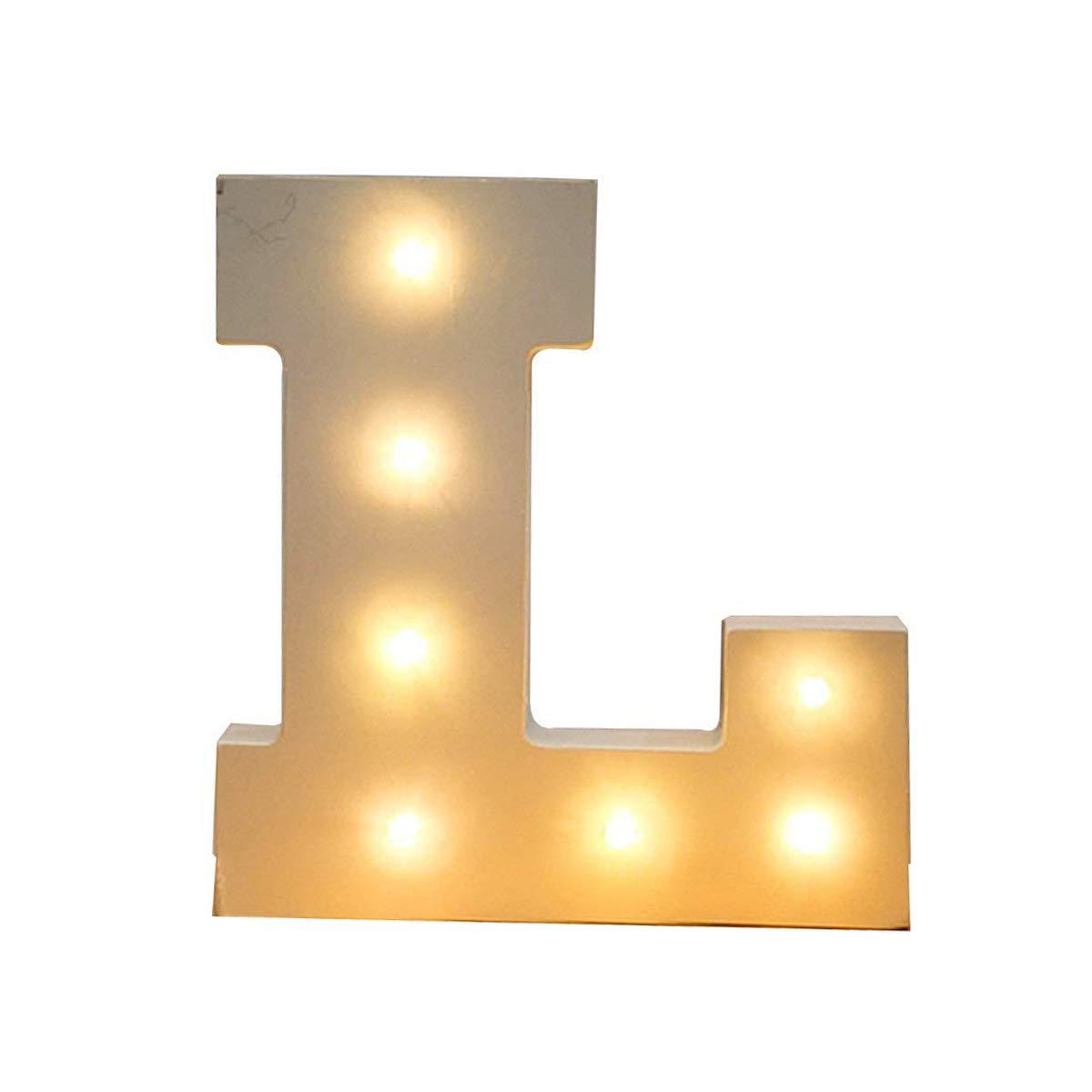 Herz Batteriebetrieben Alphabet Letters Dekorative Alphabet Buchstaben Buchstabe SUAVER Dekorative Leuchten H/ölzerne Alphabet Buchstaben Wei/ß MDF