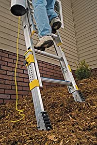16 Ft Aluminum D Rung Equalizer Extension Ladder With 250