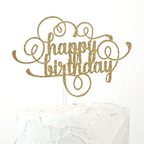 NANASUKO Happy Birthday Cake Topper - Premium quality Made in USA (Happy Birthdaycake)