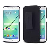 Aduro Shell Holster Combo Case for Samsung Galaxy S6 Edge ONLY with Kick-Stand & Belt Clip (AT&T Verizon T-Mobile US Cellular & Sprint)