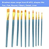 MICKYU Art Paintbrushes(10-Pack) with Palettes