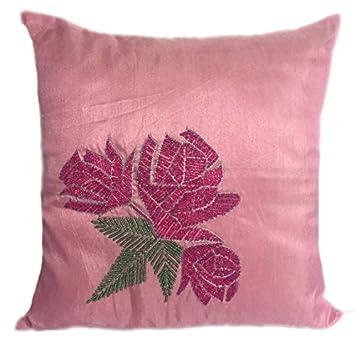 Amazon.com: Rosa Funda de almohada luz rosa Throw Pillow ...