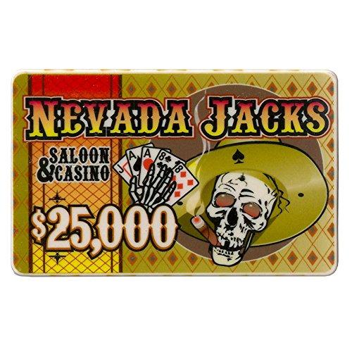 Nevada Jack $25,000 Poker Plaque 40-gram Casino Grade Ceramic - Pack of 5