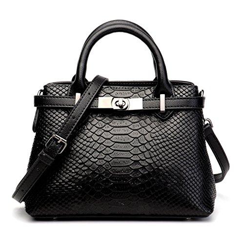 per multifunzione donna 2018 modello tracolla Ghc a New Borsa Donna tracolla e multifunzione coccodrillo Fashion Borse borse per donna Black xqwCtxIYB