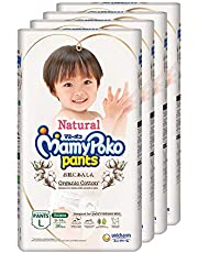 MamyPoko Natural Pants L, Case, 36ct (Pack of 4), 144 count