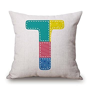 Caiemreo Letter Throw Pillow Case Twin Sides Ornament And Gift To Adults Festival Saloon Birthday Club