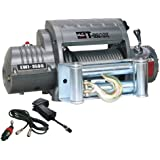 T-MAX 47-1795 Outback Series EWI9500 9500lb 12V 6.6hp Winch with Steel Cable, Wireless Hand Control, and Torque Limiter