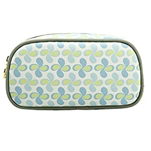 TaylorHe Make-up Bag Cosmetic Case Pencil Case Printed PVC zipped top Green Opaque Petals by TaylorHe Make-up Pouch