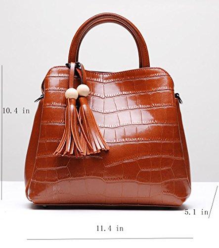 MALLUO - Bolso mochila  de Piel para mujer marrón