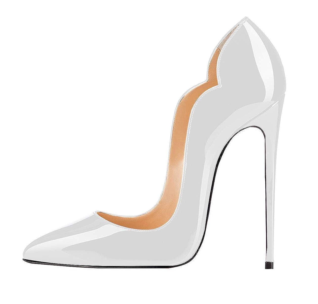 75fc7e0213 elashe Scarpe Decolte Donna - 12CM Scarpe col Tacco Pointed Toe - Classiche  Scarpe col Tacco