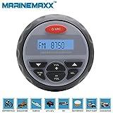 Waterproof Marine Radio FM AM MP3 Gauge Stereo Bluetooth Music for BOAT ATV UTV SPA -Blue Facial