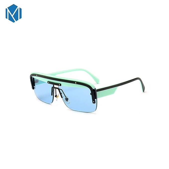 MISM Gafas de sol futuristas de una pieza Ojos de medio ...