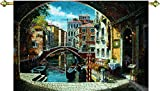 Manual Woodworkers & Weavers Tapestry Wall Hanging, Archway to Venice, 71 x 48-Inch