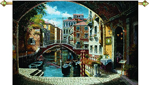 Manual Woodworkers & Weavers Tapestry Wall Hanging, Archway to Venice, 71 x 48-Inch by Manual