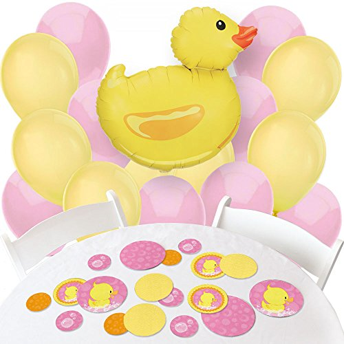 Pink Ducky Duck - Confetti and Balloon Girl