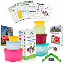21 Day Portion Control Containers (7 Piece) Colored Set Meal Prep Kit for Diet Weight Loss + FREE 21 Days Planner +2 E-Books +U/Guide +Measuring Tape +Mobile Stand by All-Green Products