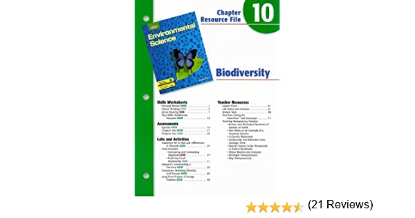 Workbook biodiversity worksheets : Holt Environmental Science Chapter 10 Resource File: Biodiversity ...