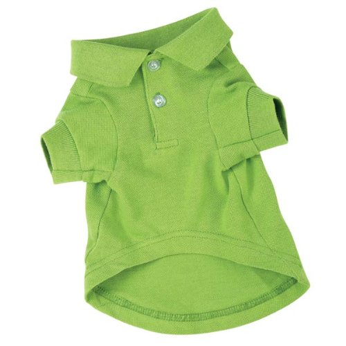 Zack and Zoey Cotton Polo Dog Shirt, Small, 12-Inch, Parrot Green, My Pet Supplies