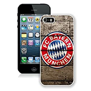 Beautiful Designed Case With FC Bayern Munich Logo White For iPhone 5S Phone Case