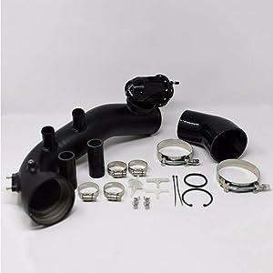 Intake Turbo Pipe Cooling + SSQV BOV Black Kit For BMW N54 E88 E90 E92 135i 335i