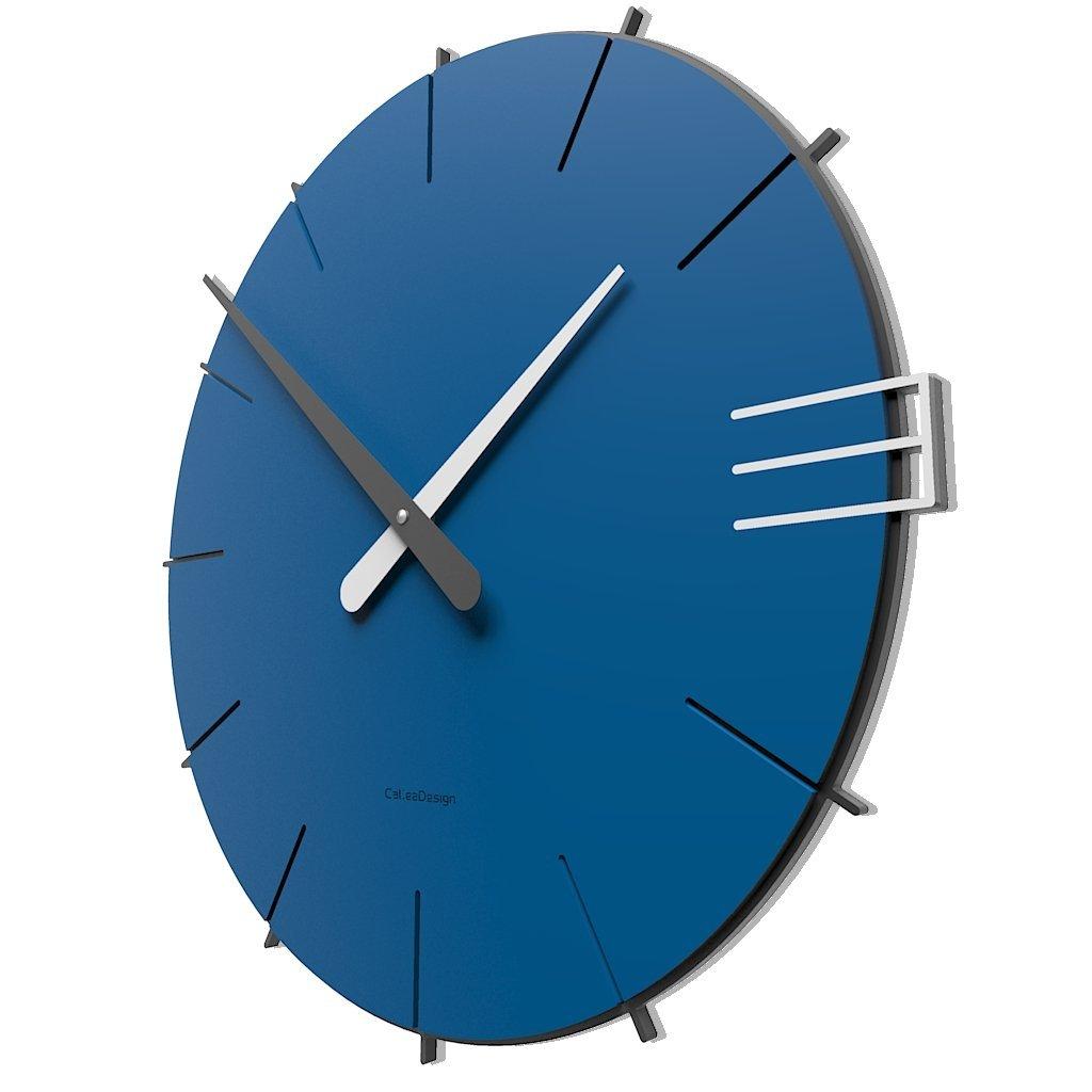 CalleaDesign 壁時計 Mike イタリアのデザイン (電気青) B01LT6GTK8 電気青 電気青