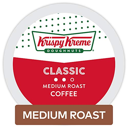 Krispy Kreme Doughnuts Smooth/Classic Coffee, Single Serve K-Cup