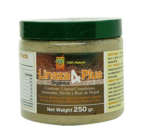 Linaza Organica Combate Estrenimiento, Mala Digestion, Limpieza Del Colon. Formula unica con Linaza premium, raiz de nopal, Amaranto y Savila. Elaborado en USA.