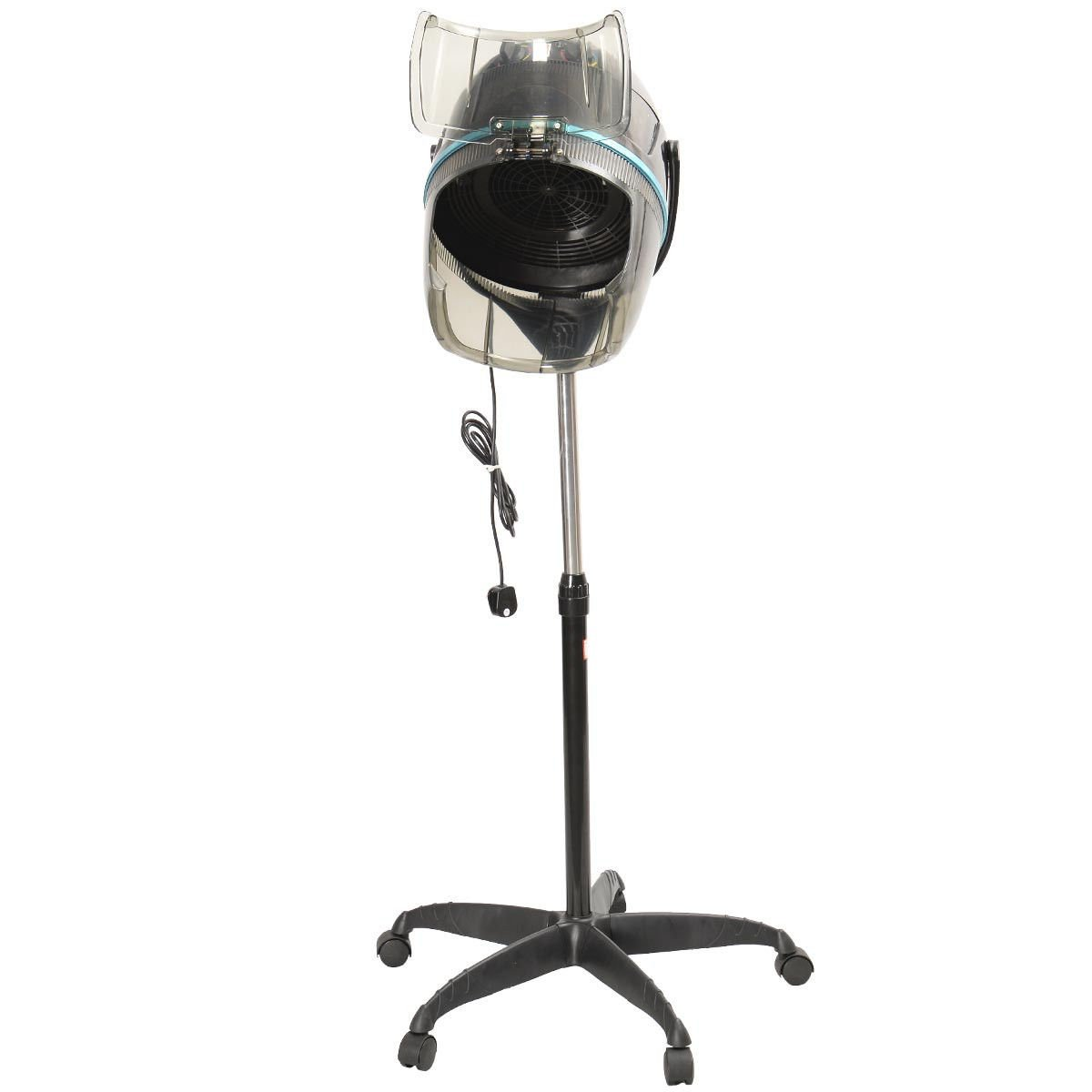 KCHEX>>>Adjustable Stand Up Hood Floor Hair Bonnet Dryer Rolling Base Salon Wheels New>This is our Professional hair dryer, which is height adjustable, swivel casters, and convenient hood door.