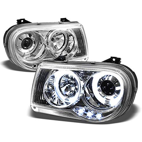 300c Halo Led Projector Headlights - Xtune for 2005-2010 Chrysler 300C Twin Halo LED Projector Headlights Head Lights Lamp Pair Left+Right/2006 2007 2008 2009
