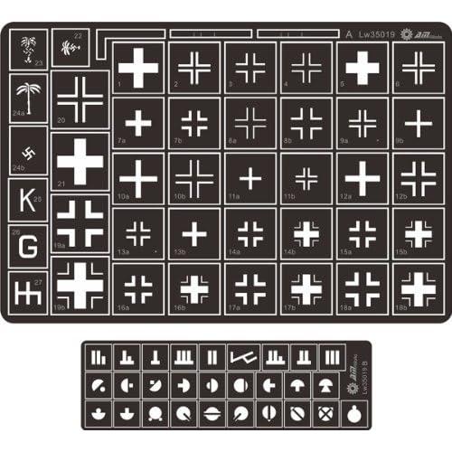 Alliance Model Works 1:35 Stencil German Balkenkreuz Cross Kursk #LW35019 for sale