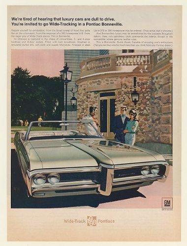 1968 PONTIAC BONNEVILLE Convertible Car VINTAGE AD Art